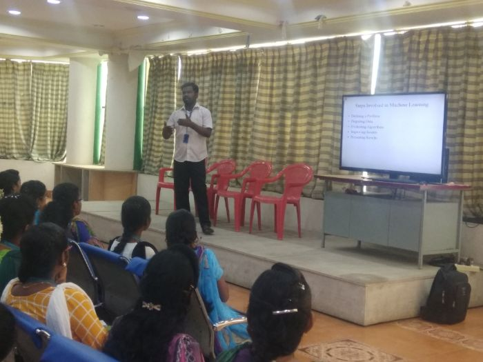 Guest Lecture on Machine Learning, organised by Dept of CSE, on 17 Jul 2019