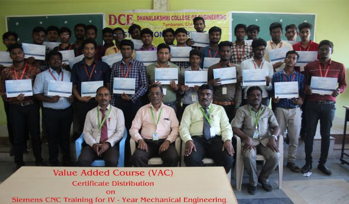 Distribution of VAC certificates on Siemens CNC, on 03 Oct 2019