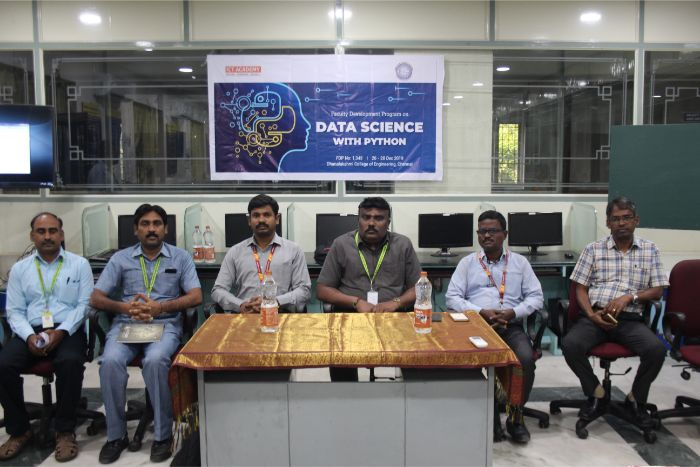 "Three Day Faculty Development Programme (FDP) on ""Data Science with Python"" in association with ICT Academy, on 26 & 28 Dec 2019"