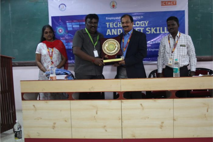 "Inauguration of Employability Skill Training in Technology & Soft Skills on ""Cloud Infrastructure & Services with Soft Skills"" in association with TNSDC & ICT Academy, on 20 Jan - 14 Feb 2020"
