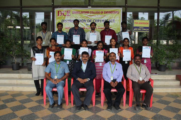 Distribution of VAC course completion certificate on PCBD and Embedded Systems, on 02 Aug 2019