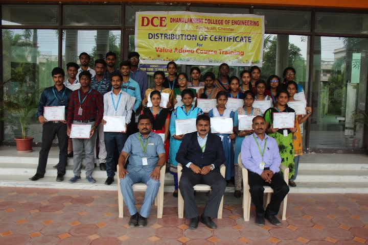 Distribution of VAC course completion certificate on Networking and Routing, on 02 Aug 2019