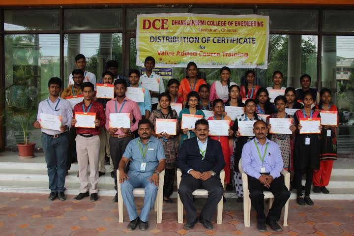 Distribution of VAC course completion certificate on Digital Illustrations, on 02 Aug 2019