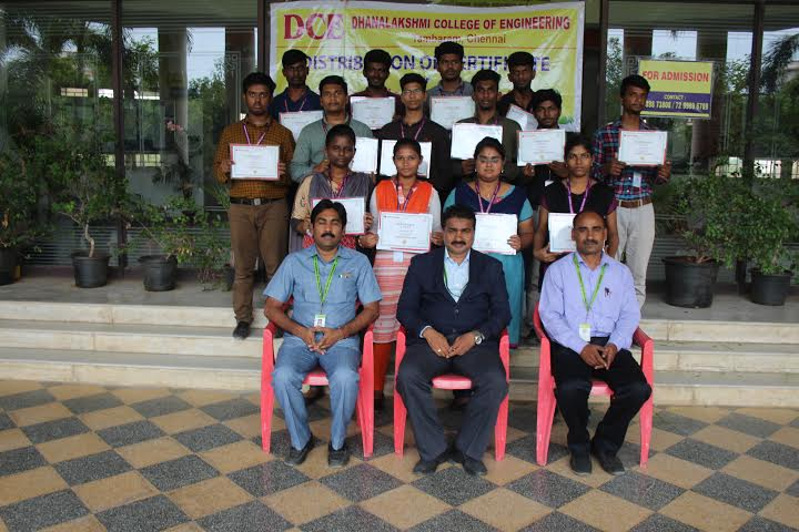 Distribution of VAC course completion certificate on OOPs using JAVA, on 02 Aug 2019